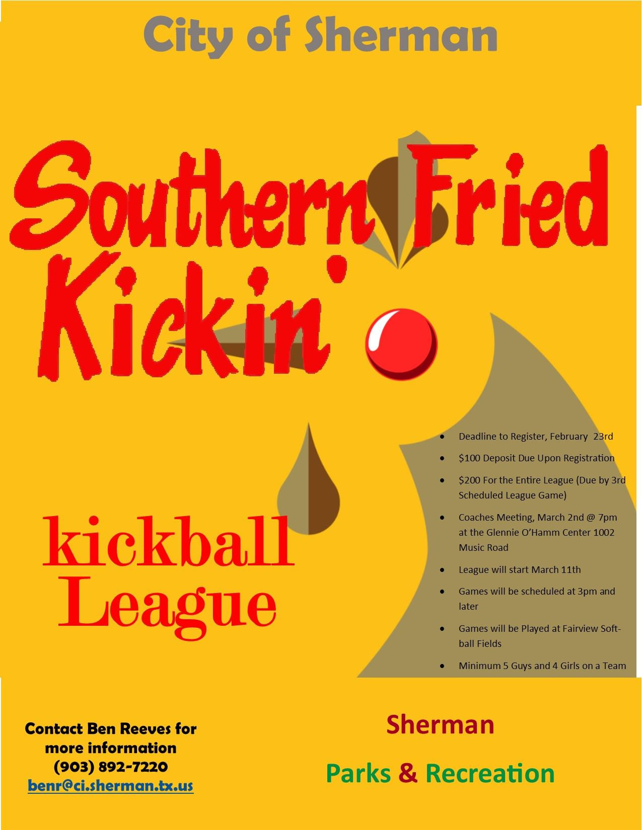 2018 Southern Fried Kickin Kickball League