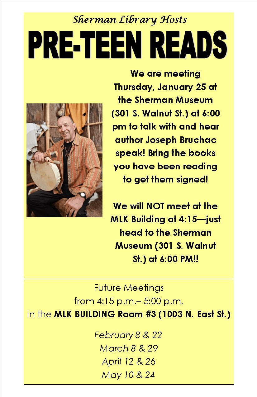 Pre-teen 2018 Flyer--1-11 meeting