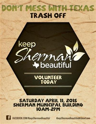 Keep Sherman Beautiful Trash Off